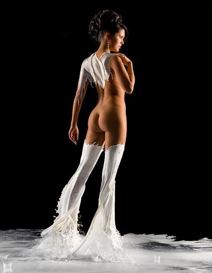 Одежда из молока на фотомоделях Андрея Разумовского — фото 10