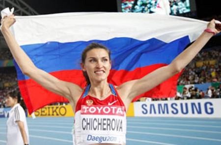 Анна Чичерова выиграла золотую медаль в прыжках в высоту на Чемпионате Мира по легкой атлетике — фото 1