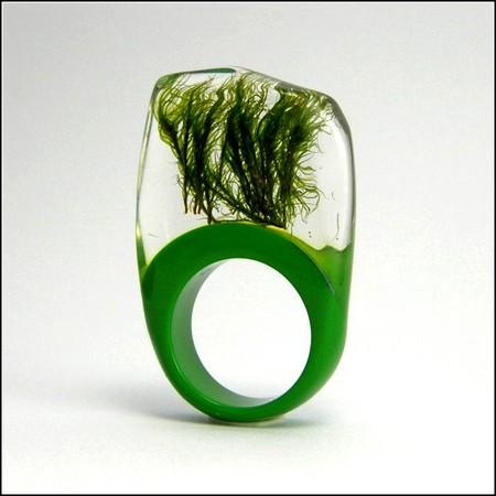 Украшения с живыми растениями от Sylwia Calus Design. — фото 6