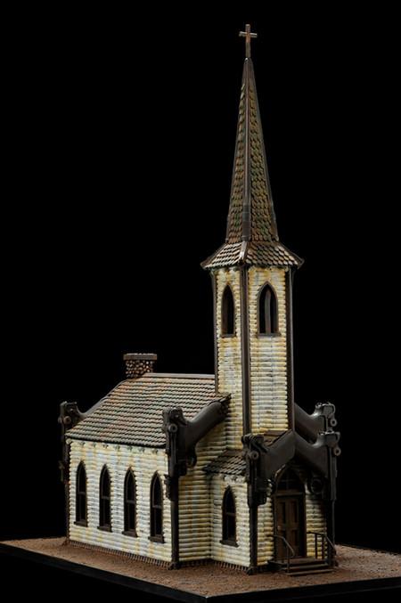 Скульптуры из оружия созданные Алом Фэрроу. — фото 4