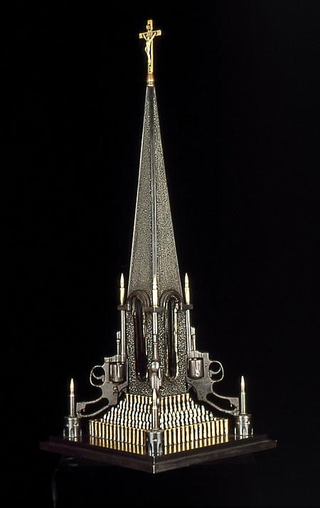 Скульптуры из оружия созданные Алом Фэрроу. — фото 6