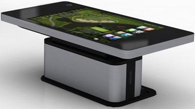 Сенсорный стол Hyundai — для интерактивной трапезы.