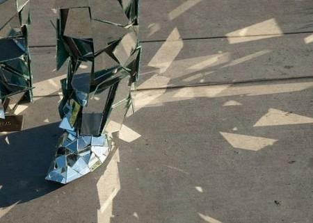 Зеркальная статуя «солнечного человека». — фото 6