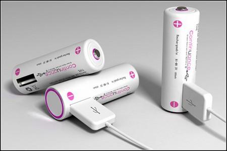"""""""Пальчиковые"""" аккумуляторы Continuance: с USB-разъемом. — фото 1"""