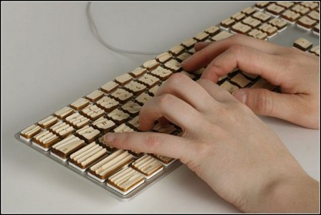 Engrain Tactile Keyboard – клавиатура из дерева «с осязанием». — фото 1
