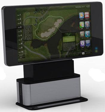 """""""Легким движением"""" стол Hyundai превращается в телевизор."""