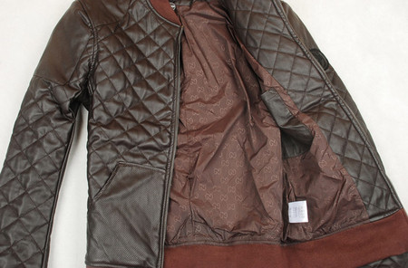 Кожаный жакет Браун от Gucci. — фото 3