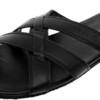 Навстречу туземке легкой походкой в сандалиях черного цвета DIESEL…
