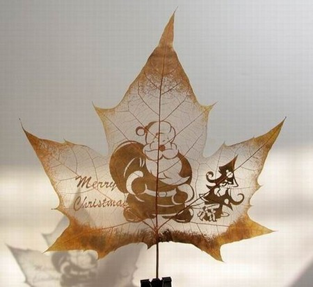 Листья клена как полотна для живописи — фото 8