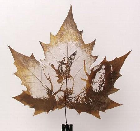 Листья клена как полотна для живописи — фото 7
