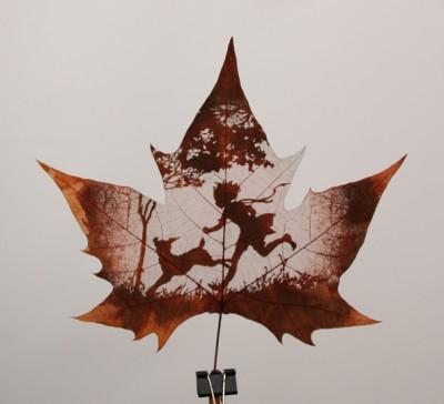 Листья клена как полотна для живописи — фото 4