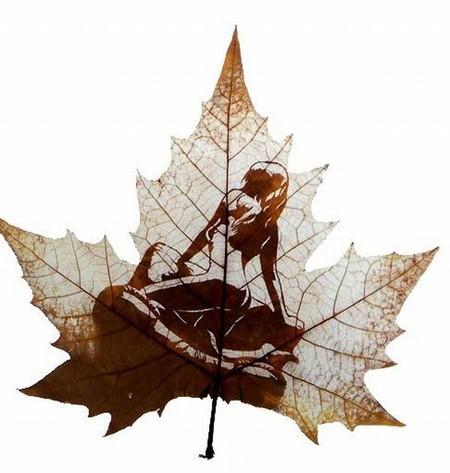 Листья клена как полотна для живописи — фото 1