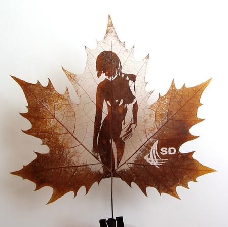 Листья клена как полотна для живописи — фото 5