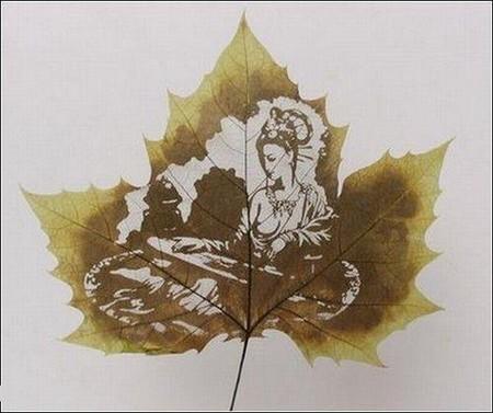 Листья клена как полотна для живописи — фото 10