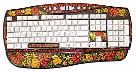 Клавиатура + декупаж, хохлома, палех ... Украшаем рабочее место и не только — фото 7