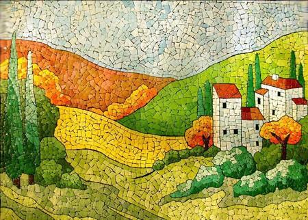 Мозаика из яичной скорлупы Любови Мешакиной — фото 3