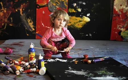 Самая маленькая (признанная) художница в мире