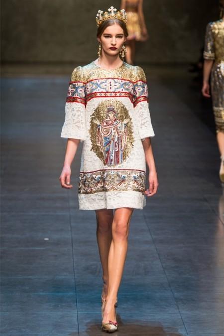 Dolce & Gabbana осень-зима 2013-2014 – когда всего слишком много — фото 76