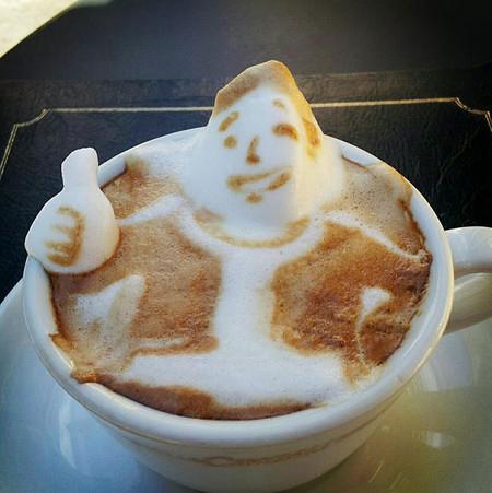 3D везде, даже в кофейной пенке! Продвинутый латте-арт от Kazuki Yamamoto — фото 6