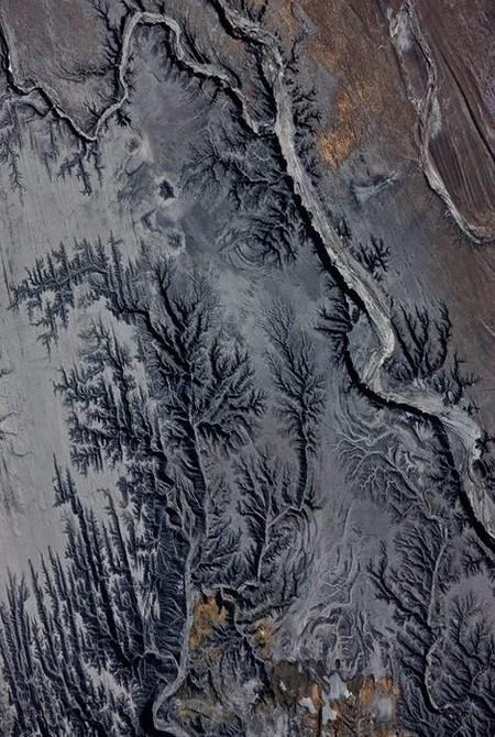 Последствия работы угольной электростанции, США, 2009 год.
