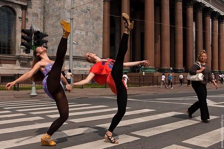 Дарья Дудник и Александра Денисенко, классический балет, Исаакиевская площадь