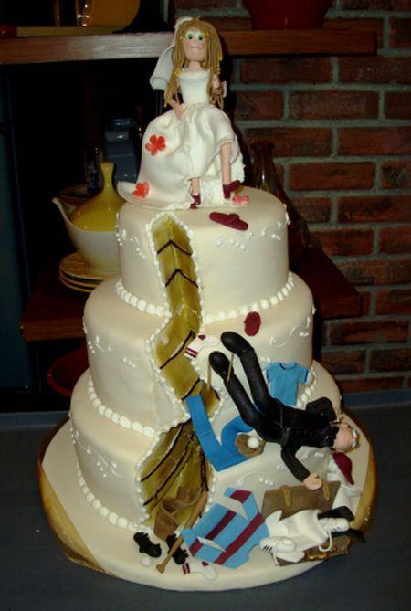 Отпразднуем … развод? Антисвадебные торты от Фэй Миллар — фото 7