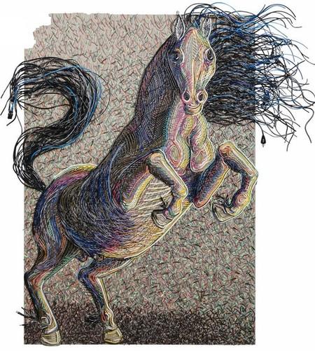Яркие картины из кабелей от Федерико Урибе — фото 4