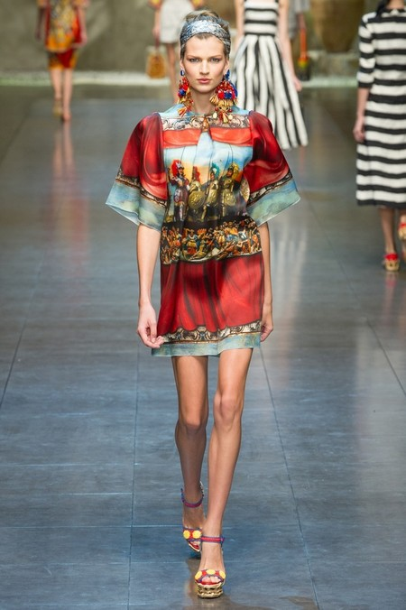 Сицилия от Dolce & Gabbana - женская коллекция весна-лето 2013 — фото 91