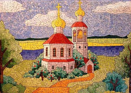 Мозаика из яичной скорлупы Любови Мешакиной — фото 27