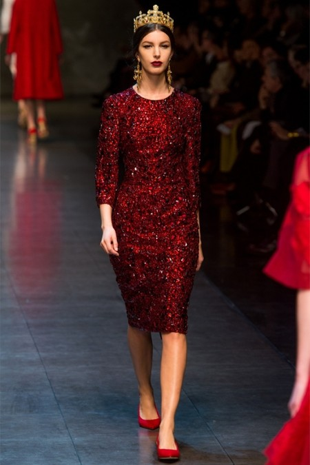 Dolce & Gabbana осень-зима 2013-2014 – когда всего слишком много — фото 59