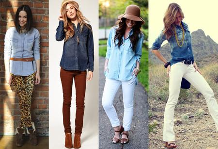 Ода джинсовой рубашке – сочиняем образы — фото 77