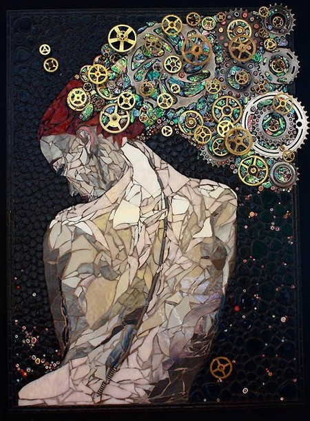 Механизмы и другие штуки в мозаиках Лоры Харрис — фото 1