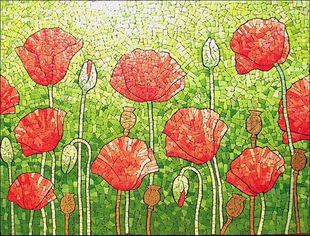Мозаика из яичной скорлупы Любови Мешакиной — фото 18