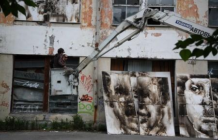 В память о ВОВ – лица, нарисованные огнем и «коктейлем Молотова». Проект T-Radya — фото 14