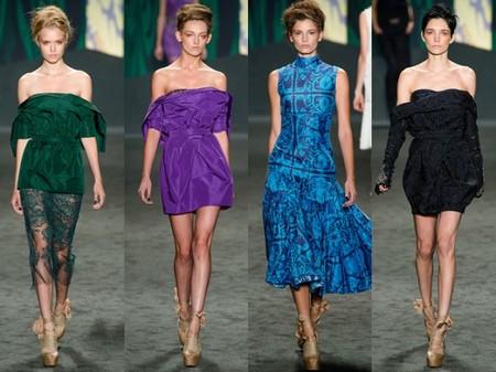 Открытые плечи – модная волна весны 2013 — фото 43