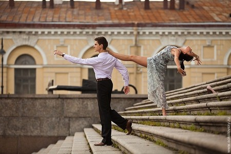 Александр Зевелев и Ксения Запутряева, спортивные бальные танцы, Васильевский остров