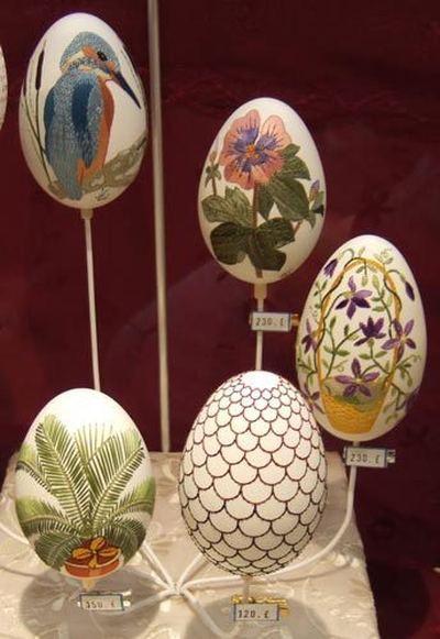 Вышивка по … яичной скорлупе. Ювелирная работа Элизабет Кляйн — фото 18