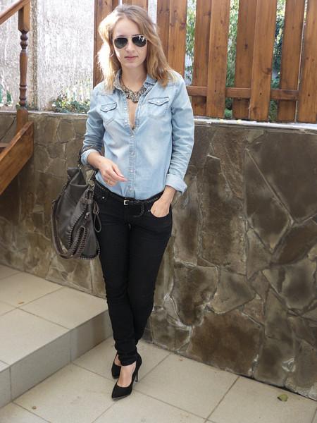 Ода джинсовой рубашке – сочиняем образы — фото 24