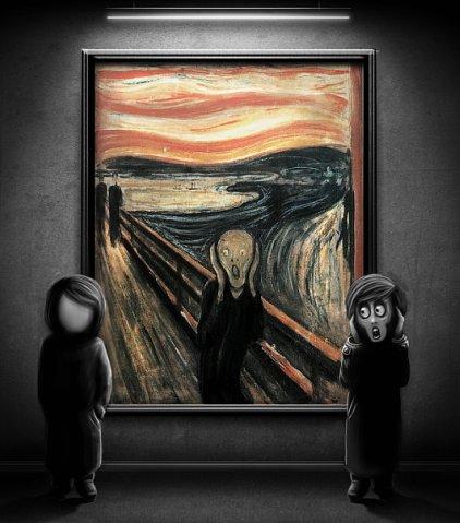 Картина Эдварда Мунка «Крик» - фантазии рекламщиков и других — фото 13