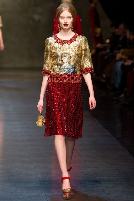 Dolce & Gabbana осень-зима 2013-2014 – когда всего слишком много — фото 68