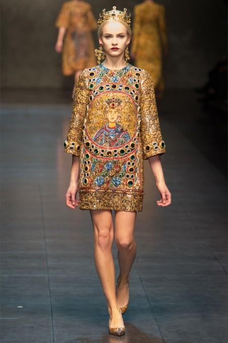 Dolce & Gabbana осень-зима 2013-2014 – когда всего слишком много — фото 8