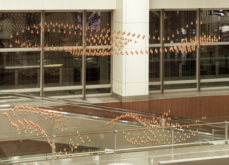 Kinetic Rain – танцующие капли в сингапурском аэропорту — фото 9