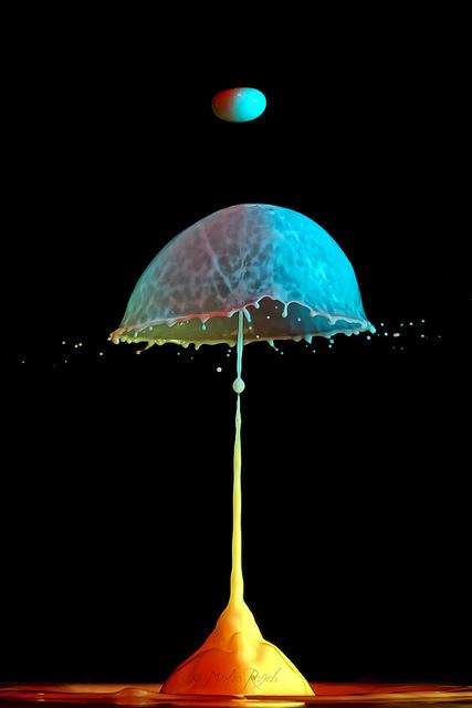 Скульптуры из … воды. Макрофотографии разноцветных капель — фото 28