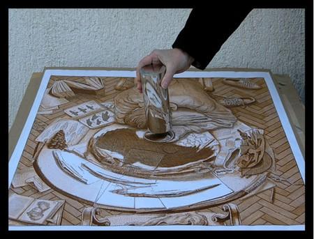 Ставим зеркальный цилиндр в кружок