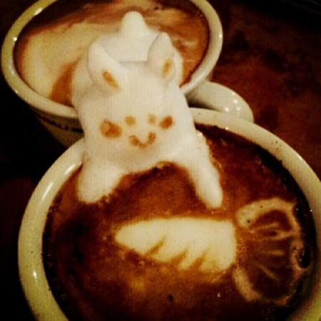 3D везде, даже в кофейной пенке! Продвинутый латте-арт от Kazuki Yamamoto — фото 4