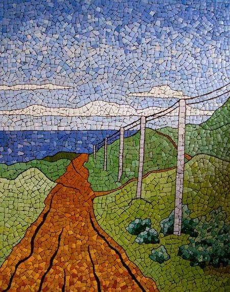 Мозаика из яичной скорлупы Любови Мешакиной — фото 23