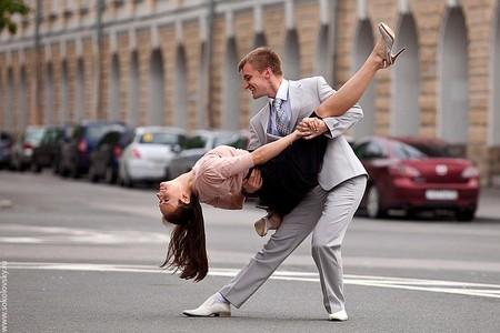 Бальные танцы на площади академика Сахарова