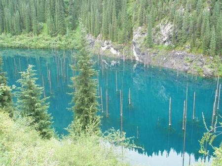Волшебное озеро Каинды в Казахстане — фото 12