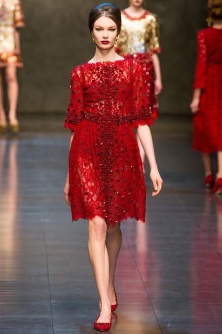 Dolce & Gabbana осень-зима 2013-2014 – когда всего слишком много — фото 67