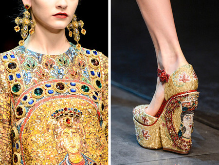 Dolce & Gabbana осень-зима 2013-2014 – когда всего слишком много — фото 121